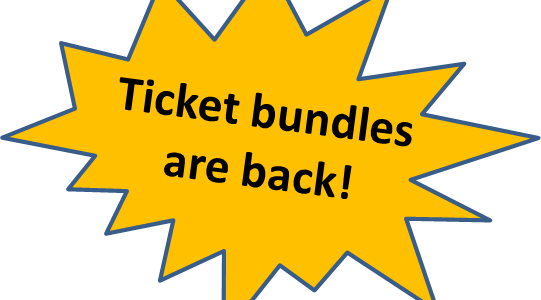 Pre-pay and relax – ticket packages save you time & money